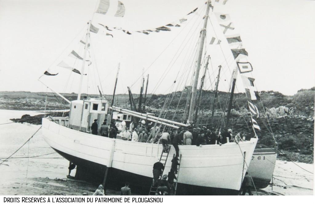 le Fleur des Ondes, baptême en 1956 au Diben bandeau