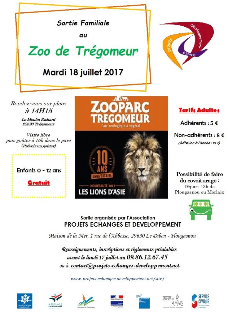 Sortie Zoo de Trégomeur